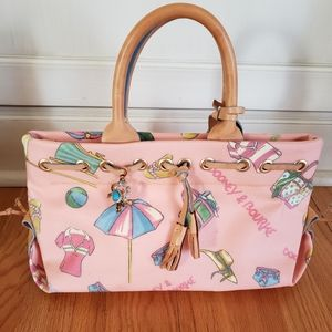 Dooney and Bourke coated beach handbag / purse